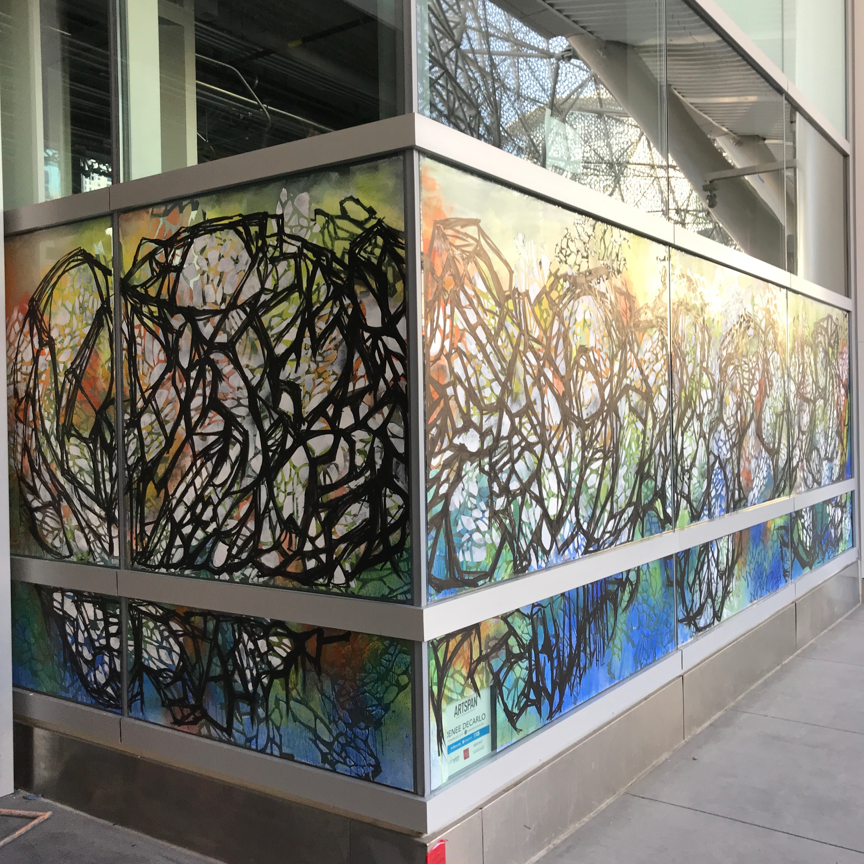 Sales Force Transit Center Window Mural